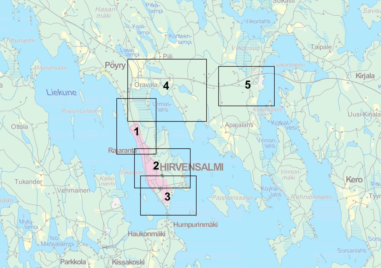 Kirkonkylä asemakaava kartta