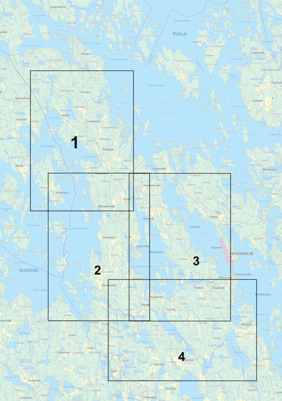 Länsiosa kartta